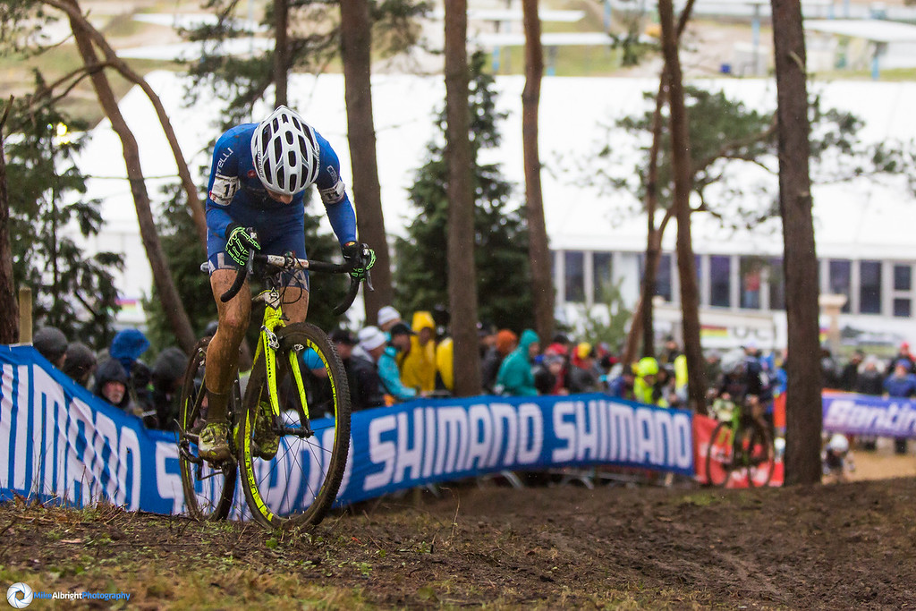 Jakob Dorigoni (ITA) almost at the top of the run/ride-up.