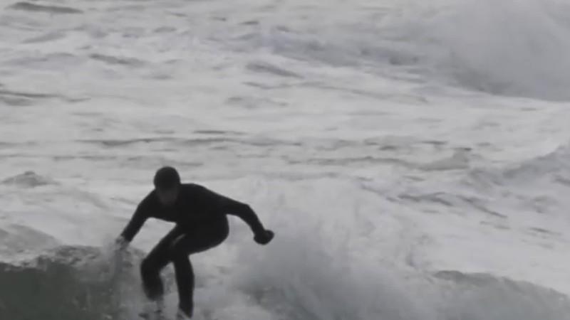 Narragansett Pier Surfing Feb 2019