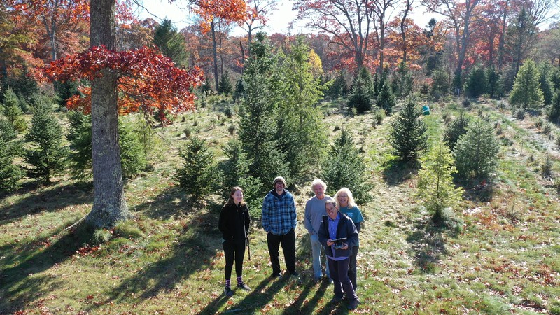 Promotional still for Bedrock Tree Farm as the Geary's ready for the upcoming tree cutting season.