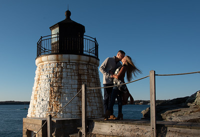 Sean and Maddie tie the knot at Castle Hill Lighthouse, Newport!