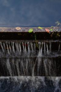 Over the dam, at California Jim's Pond, Wakefield, RI.