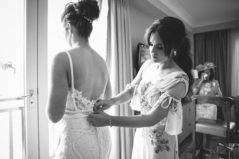 Wedding day at Druids Glen Hotel in Wicklow, Ireland
