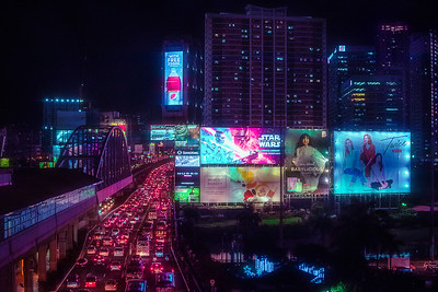Manila's own version of this is Guadalupe, or as I like to call it, the Billboard Capital of the Philippines.