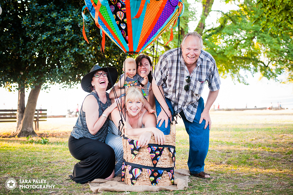 kits beach vancouver, baby\s first birthday, hot air balloon, party, sara paley photography, vancouver children