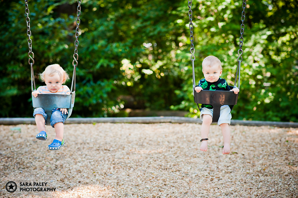 babies on the swings, burnaby playground, burnaby baby photographer