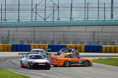 #03 MP1B Porsche GT3 Cup driven by Juan Ramirez of MGM Racing, #69 MP1B Porsche GT3 Cup driven by Dan Hardee & David Tuaty of TLM USA