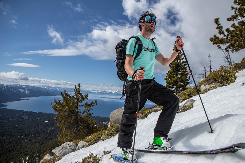 Lake Tahoe Backcountry skinning