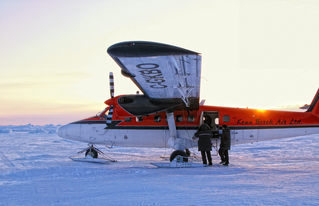 The Twin Otter we used to get to the camp near the North Pole.