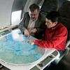 Looking at the map of the Arctic just after starting the trip.