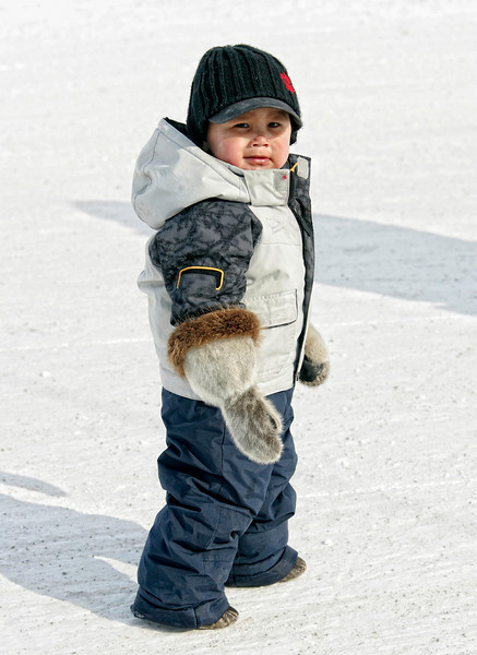 An Inuit child in Hall Beach, Nunavut.