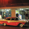 Havana car by night.