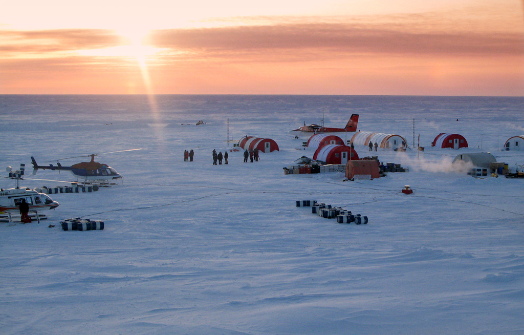Camp near the North Pole on Ellesmere Island.