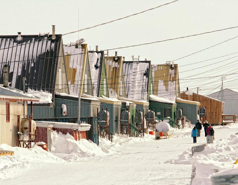 Main street in Hall Beach, Nunavut.