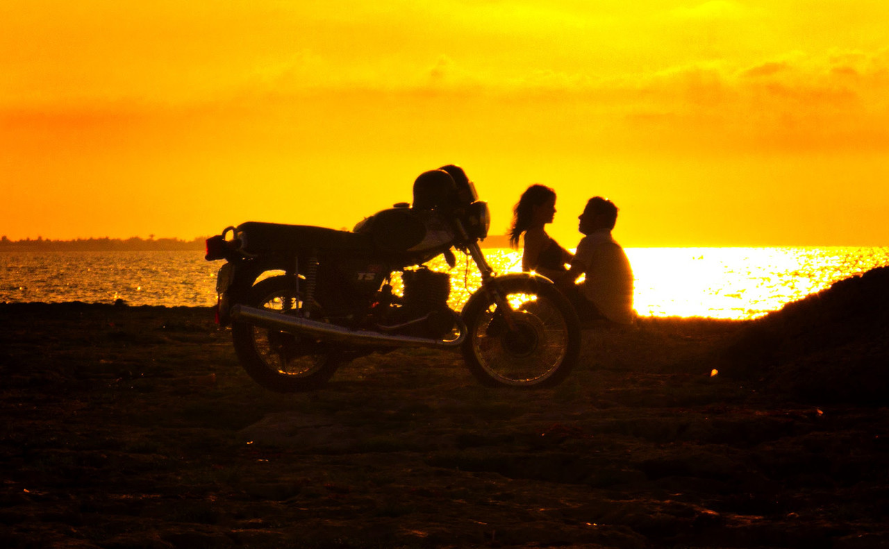 Sunset near the Acuario Nacional in Havana