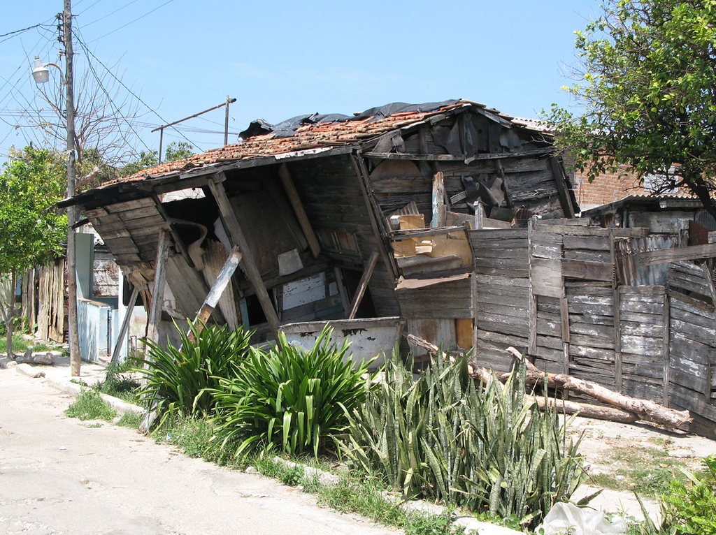 House in Buena Vista. The government came to tear down the house and build a new one for the owner. Unfortunately the owner sold all the building materials before they could start.