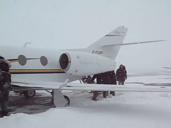 A video of our group boarding the plane in Iqaluit to go even further north.