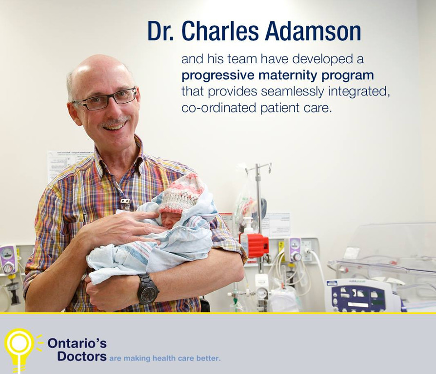 Dr. Adamson for a series I photographed for the Ontario Medical Association.