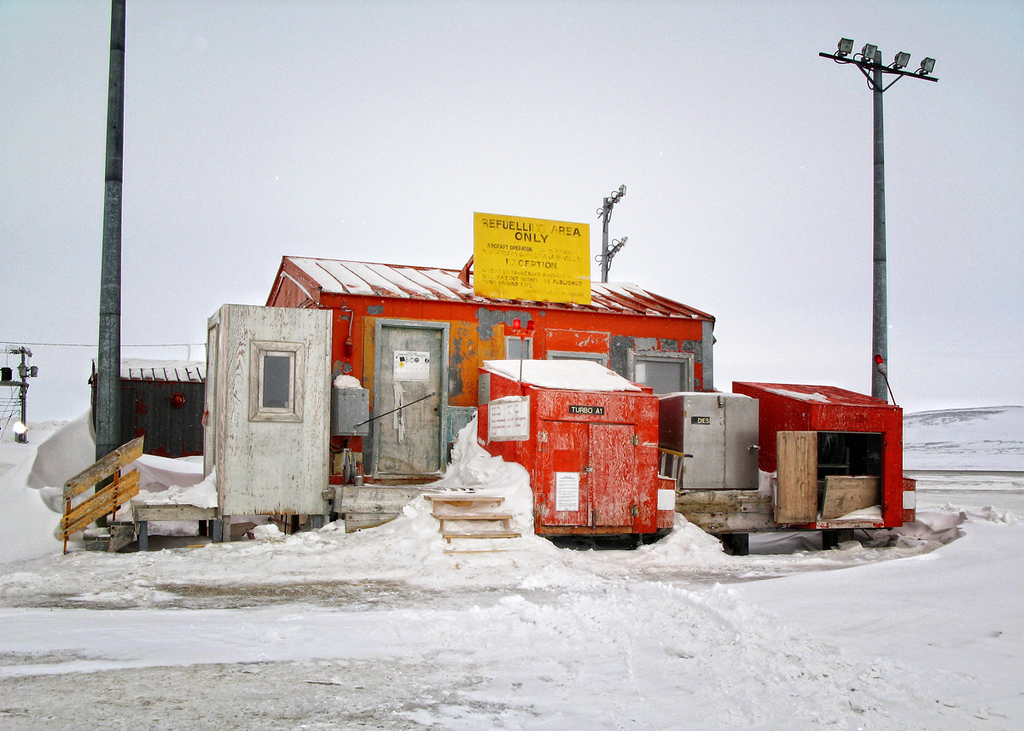 A refueling station in Resolute Bay, Nunavut.