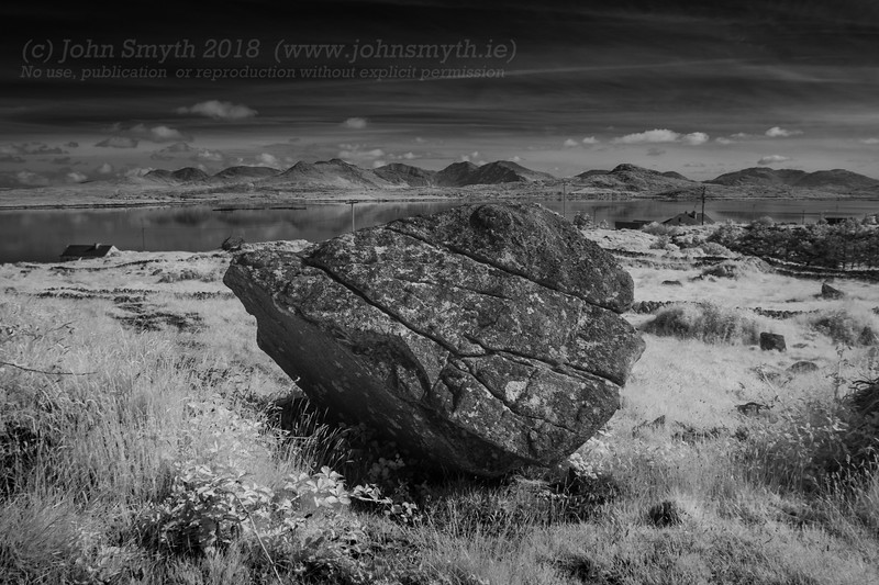 Glacial boulder near Carna in Co. Galway