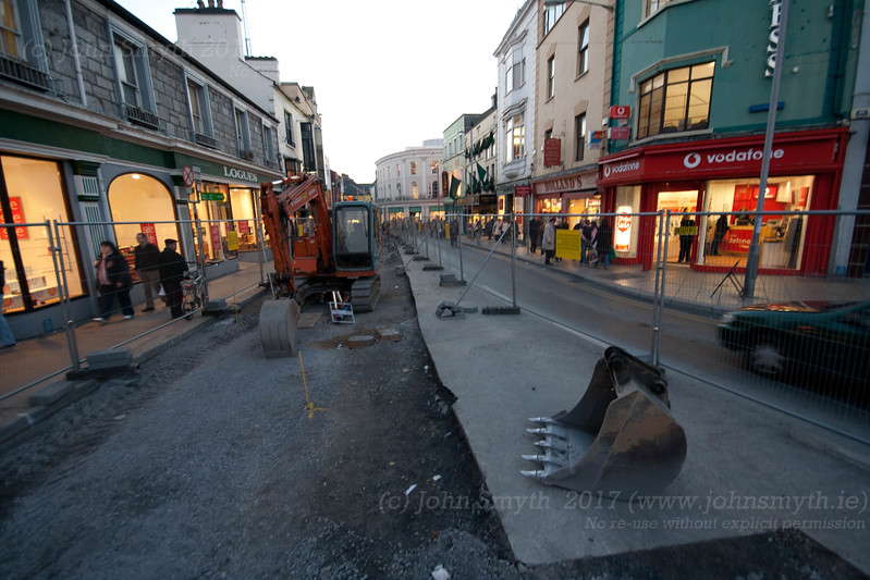 Street works in progress as part of the Eyre Square redesign in 2006