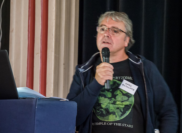 Gary Biltcliffe speaking on the Spine of Albion
