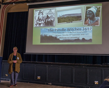 Eileen Roche speaking on the Pendle Witches