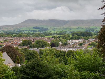 Pendle Hill from Clitheroe Castle