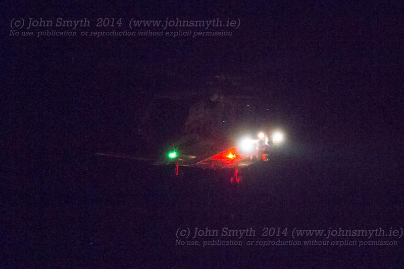 Irish coastguard helicopter at night