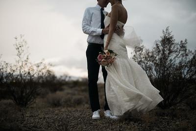 KRISTEN KAY PHOTOGRAPHY | Las Vegas rainy desert elopement | Miss Daisy Floral Bouquet