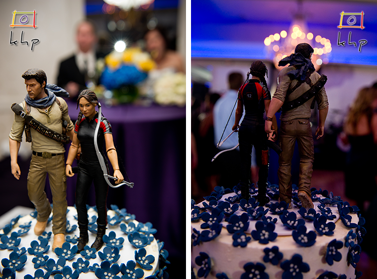 Katniss and Gale take a walk on Molly and Greg's Wedding Cake