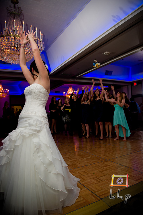 Molly tosses the bouquet!