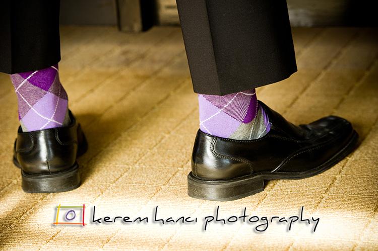 Eric rocking some serious purple argyle socks