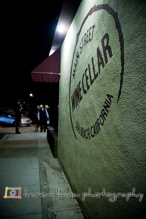 An intimate wedding reception at The Wine Cellar, Seal Beach CA