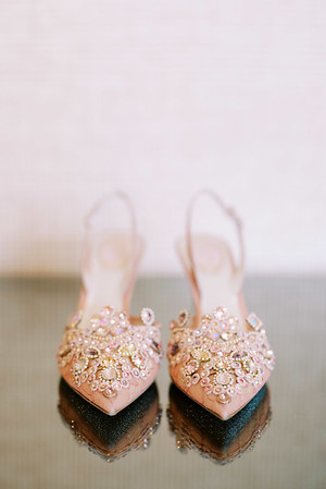 Pink heels with rhinestones - beautiful pink heels with intricate rhinestone details. perfect for a vintage-inspired wedding - Kristen Kay Photography