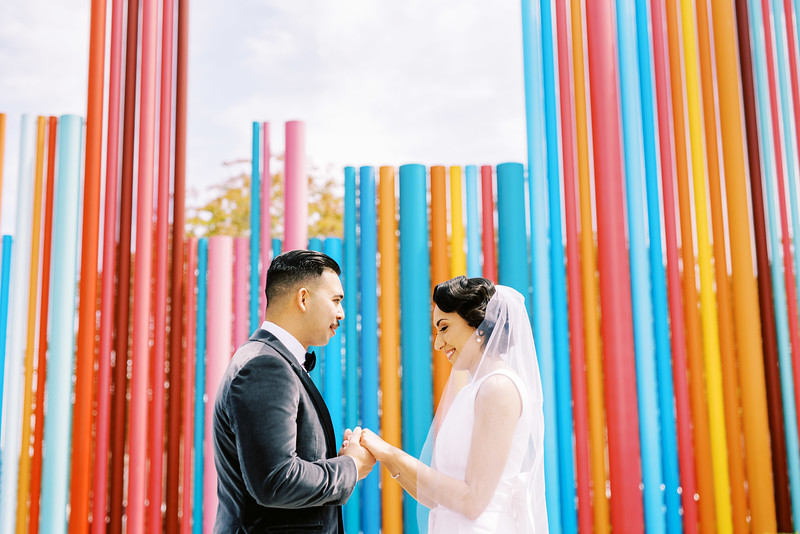 Symphony Park Las Vegas - colorful first look location - Kristen Kay Photography - Photo and Super 8 Video
