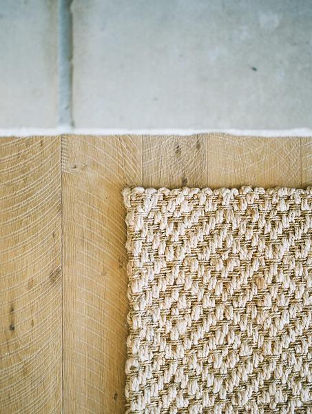 in home bridal boudoir session / wood and jute rug details | Kristen Krehbiel - Kristen Kay Photography - Southern California Lifestyle Photographer | Belle Lumiere & Amber Reverie Design