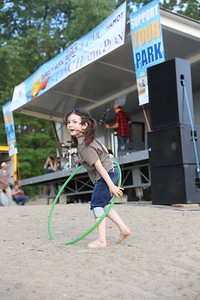 Hula Hooping at the Sirsy show