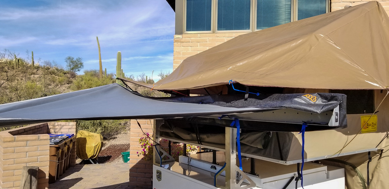 Custom roof top tent fly rods for awning