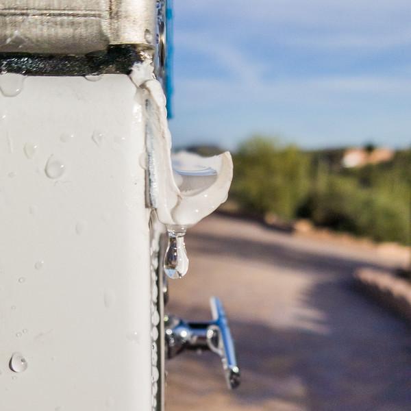 trailer side box rain gutters