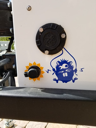 Solar Panel and Shore AC Power Ports