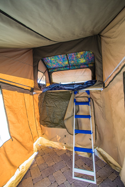Eezi-Awn Globe Tracker Trailer Tent Interior - After Ceiling Panel