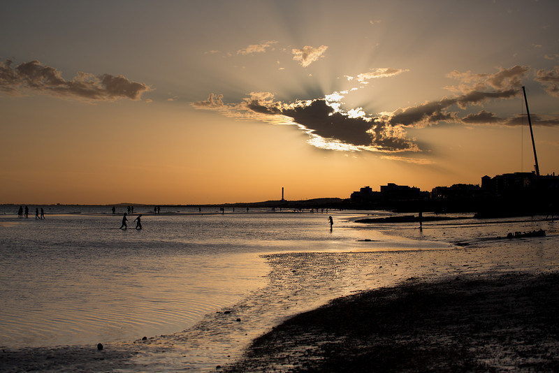 Brighton beach at low tide