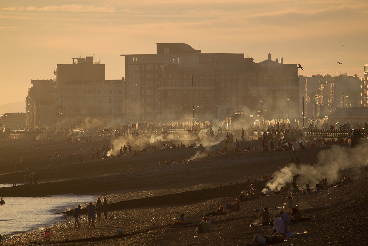 A summer evening on Hove beach