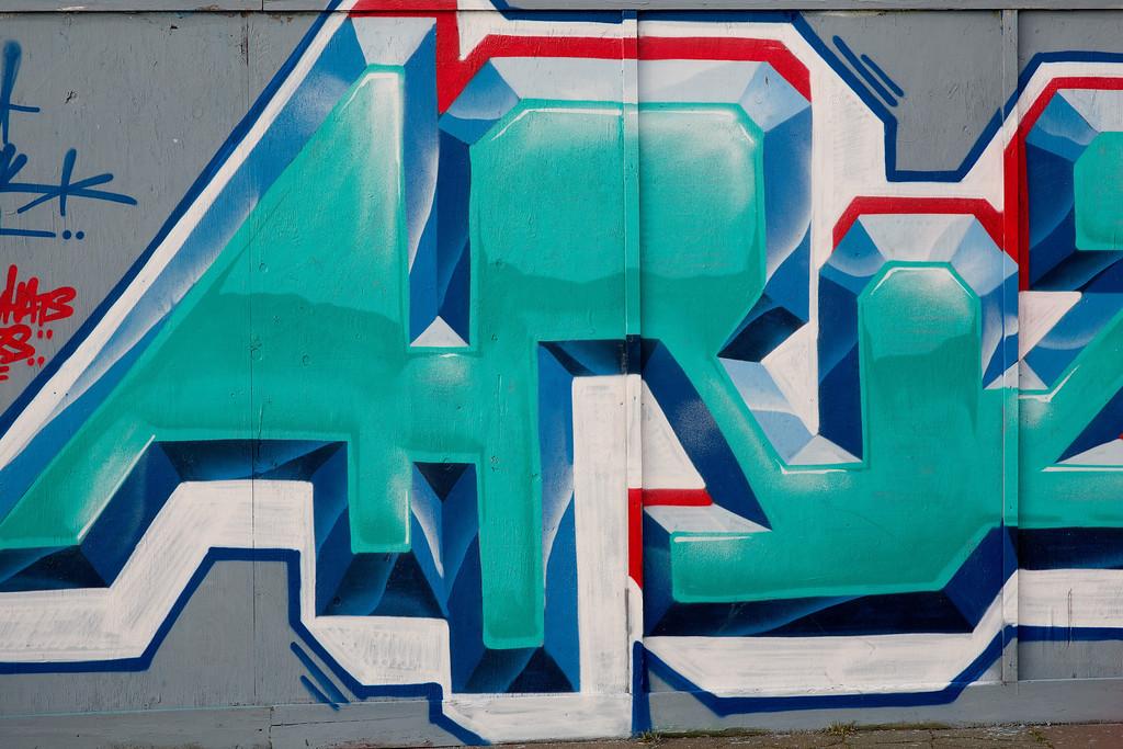 Graffiti at the West Pier, Brighton