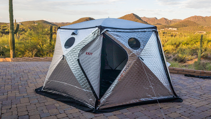 Shiftpod2 insulated solar reflective pop up tent