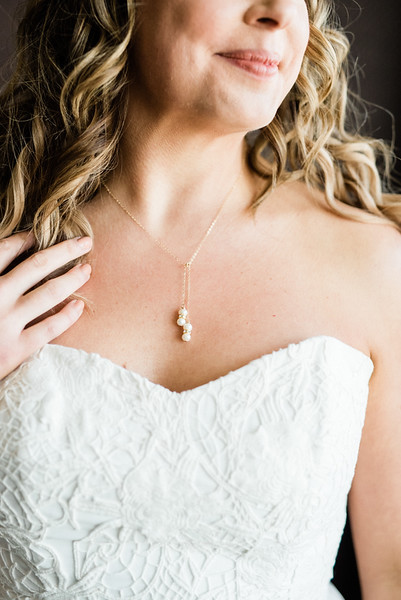 bridal necklace & sweetheart neckline Robert Bullock gown - getting ready photos // Las Vegas desert elopement // Las Vegas Elopement & Intimate Wedding Photographer - Kristen Krehbiel - Kristen Kay Photography