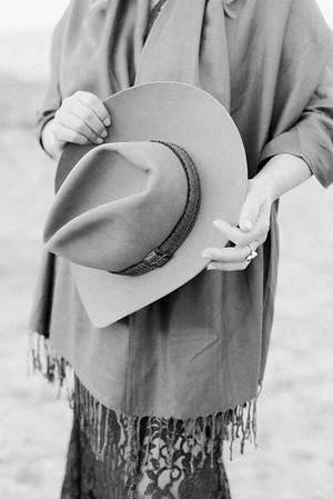 father's cowboy hat - a meaningful, special moment for mother of the bride // Kristen Krehbiel - Kristen Kay Photography