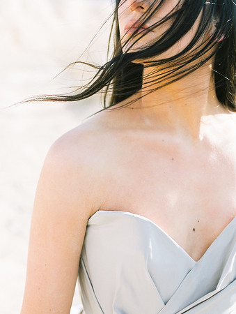 natural no makeup bridal look for a Las Vegas sunrise elopement // Kristen Krehbiel - Kristen Kay Photography // Carol Hannah Gown // Janna Brown Designs and Magnolia Rouge