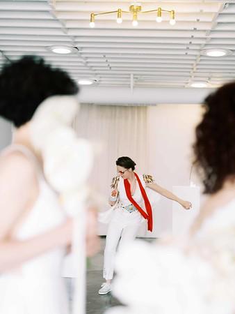 Elvis Officiant - Las Vegas Wedding Chapel - modern, minimal, natural light wedding chapel in Downtown Vegas - Kristen Kay Photography - Kristen Krehbiel - Sure Thing Chapel - #chapel #lasvegas #loveislove