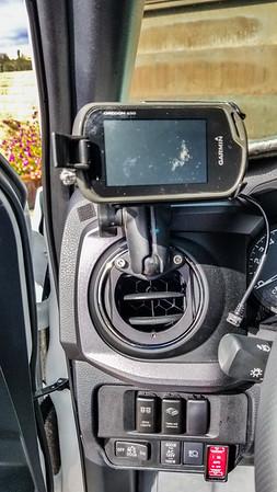 Garmin GPS on Hondo Garage un-holey gen 3 tacoma vent mount.
